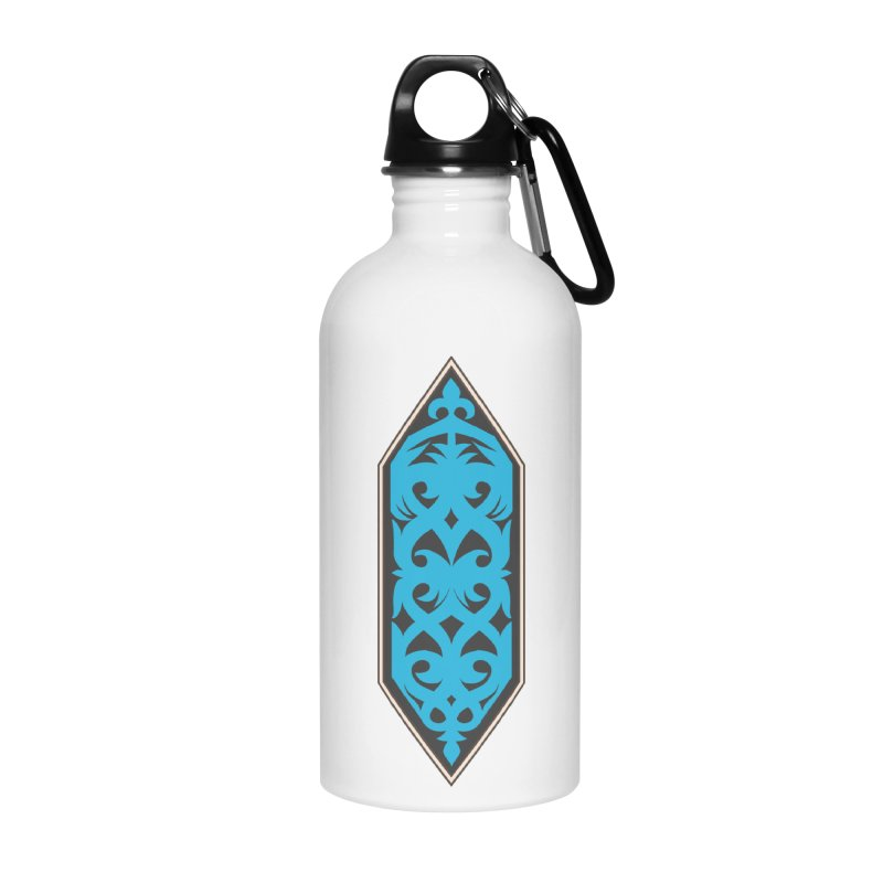 Azure, Banner Of The Sky and Sea Accessories Water Bottle by My Shirty Life