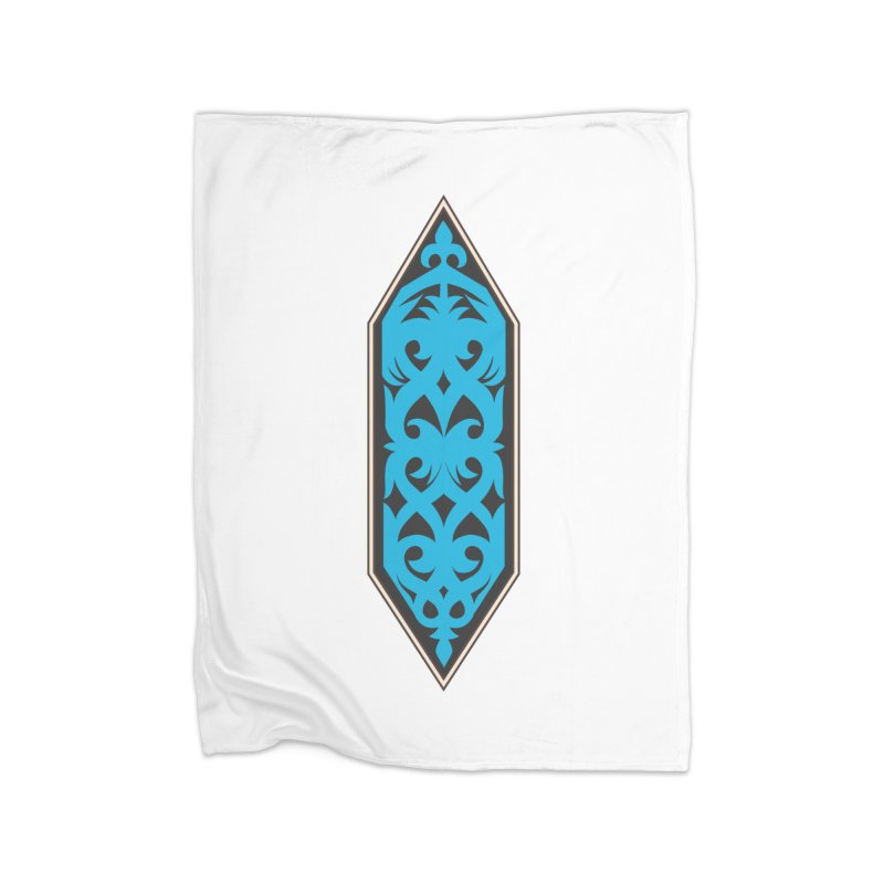Azure, Banner Of The Sky and Sea Home Blanket by My Shirty Life