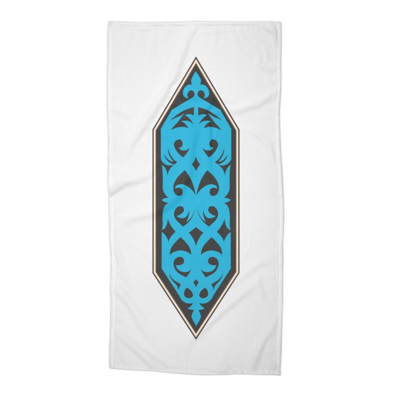 Azure, Banner Of The Sky and Sea Accessories Beach Towel by My Shirty Life