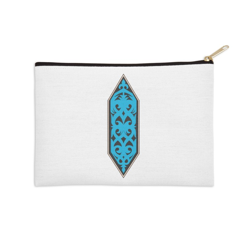 Azure, Banner Of The Sky and Sea Accessories Zip Pouch by My Shirty Life