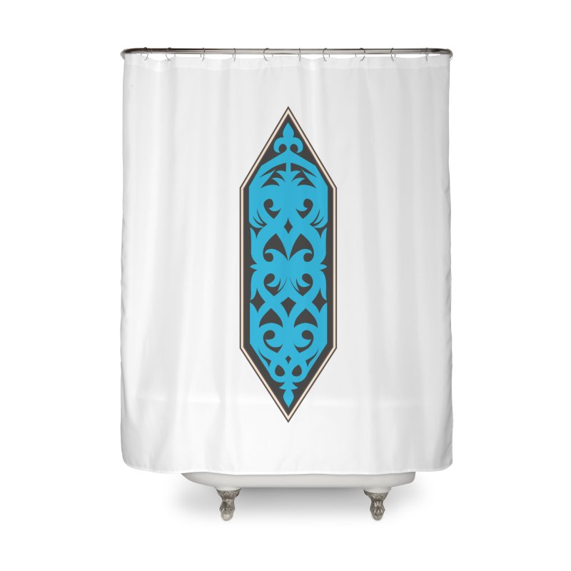 Azure, Banner Of The Sky and Sea Home Shower Curtain by My Shirty Life