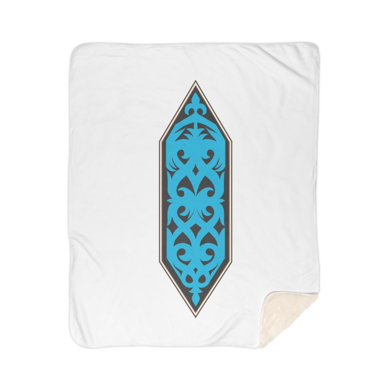 Azure, Banner Of The Sky and Sea Home Sherpa Blanket Blanket by My Shirty Life