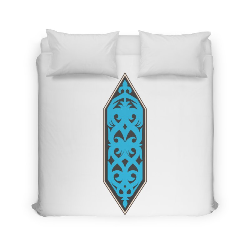 Azure, Banner Of The Sky and Sea Home Duvet by My Shirty Life