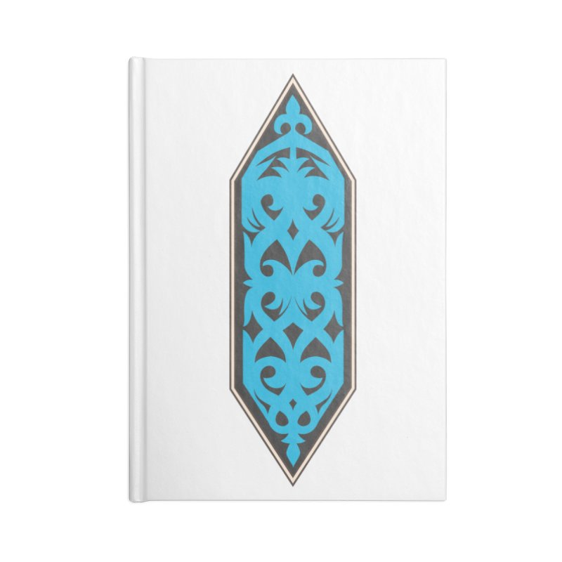 Azure, Banner Of The Sky and Sea Accessories Lined Journal Notebook by My Shirty Life