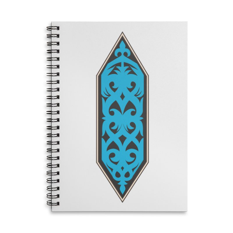 Azure, Banner Of The Sky and Sea Accessories Lined Spiral Notebook by My Shirty Life