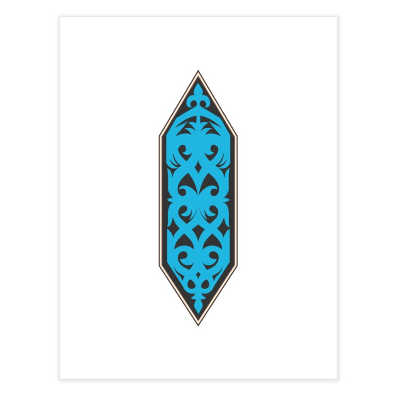 Azure, Banner Of The Sky and Sea Home Fine Art Print by My Shirty Life