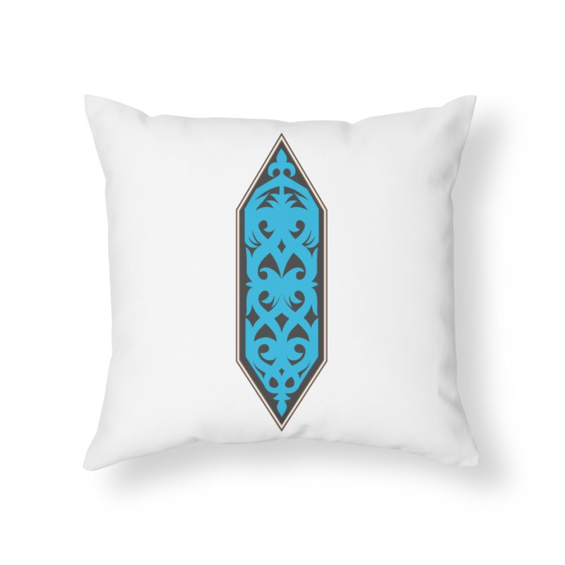 Azure, Banner Of The Sky and Sea Home Throw Pillow by My Shirty Life