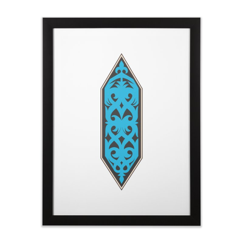 Azure, Banner Of The Sky and Sea Home Framed Fine Art Print by My Shirty Life