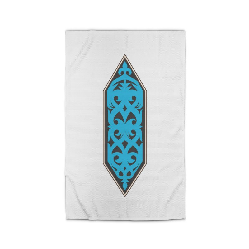 Azure, Banner Of The Sky and Sea Home Rug by My Shirty Life