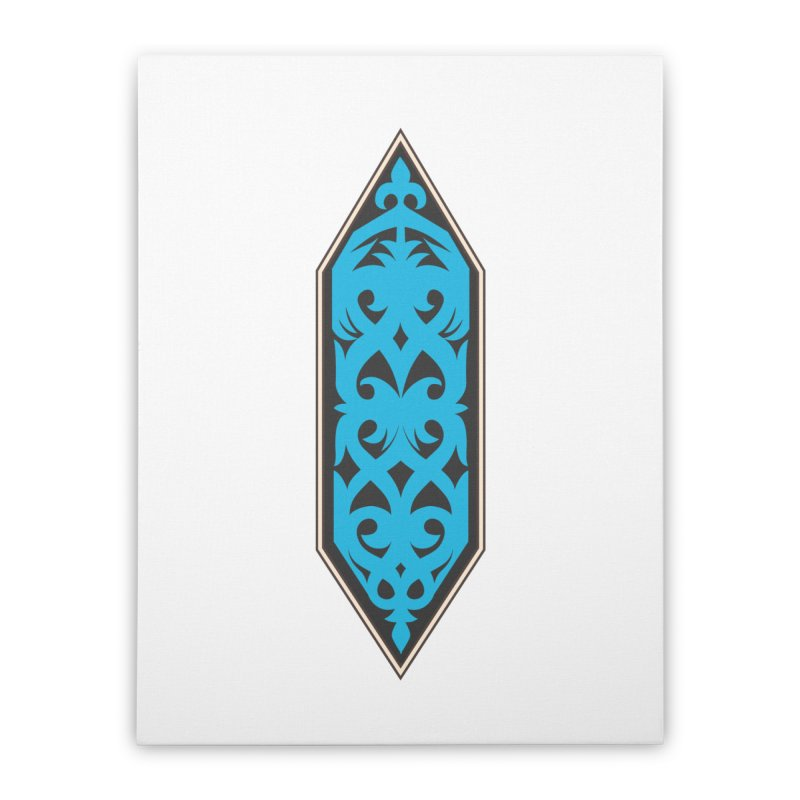 Azure, Banner Of The Sky and Sea Home Stretched Canvas by My Shirty Life