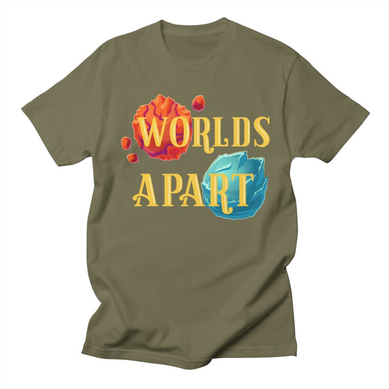 Worlds Apart Men's Regular T-Shirt by My Shirty Life
