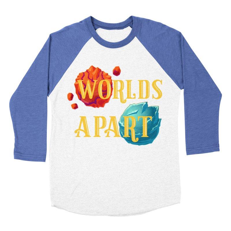 Worlds Apart Men's Baseball Triblend Longsleeve T-Shirt by My Shirty Life