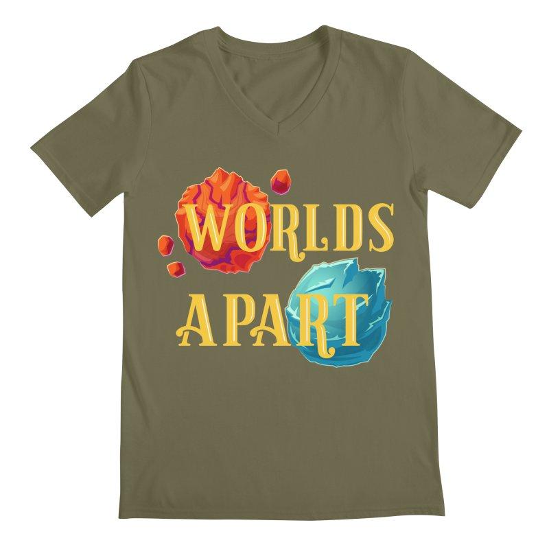 Worlds Apart Men's Regular V-Neck by My Shirty Life