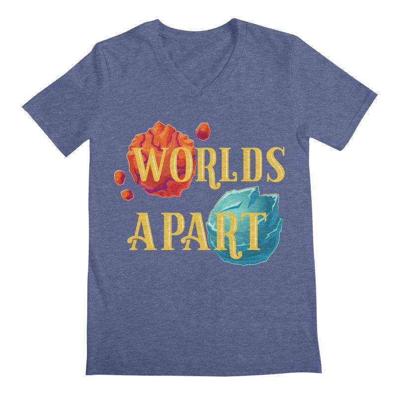 Worlds Apart Men's V-Neck by My Shirty Life