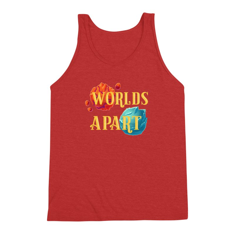 Worlds Apart Men's Triblend Tank by My Shirty Life