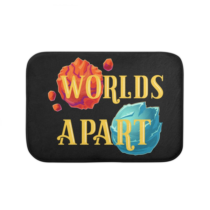 Worlds Apart Home Bath Mat by My Shirty Life