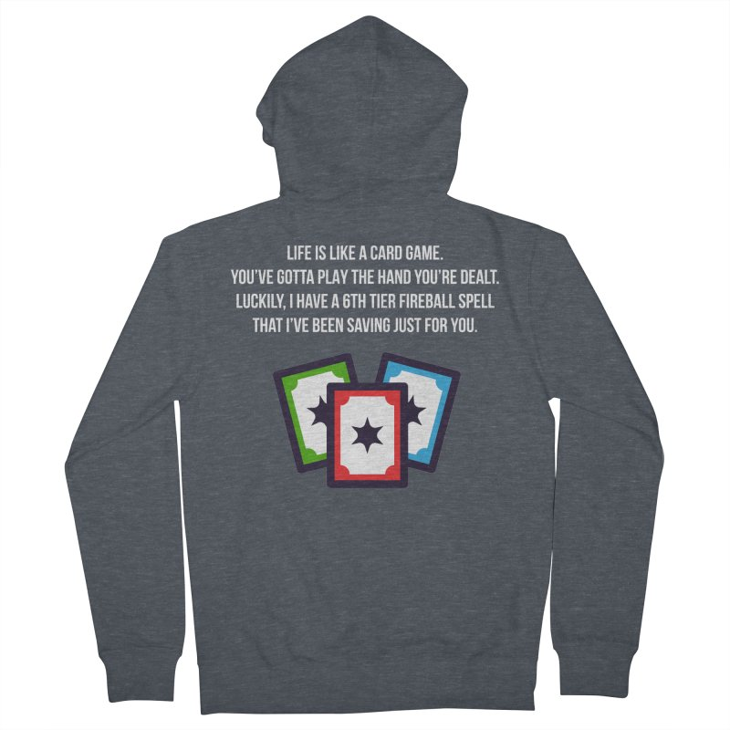 Life Is Like A Card Game... Men's Zip-Up Hoody by My Shirty Life