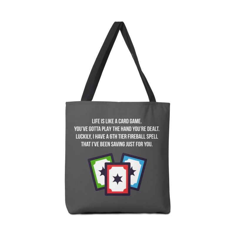 Life Is Like A Card Game... Accessories Bag by My Shirty Life
