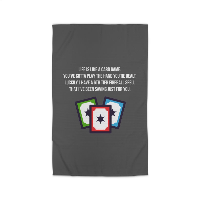 Life Is Like A Card Game... Home Rug by My Shirty Life