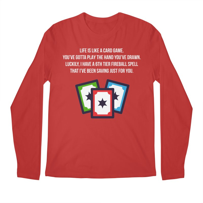 Life Is Like A Card Game... Men's Regular Longsleeve T-Shirt by My Shirty Life