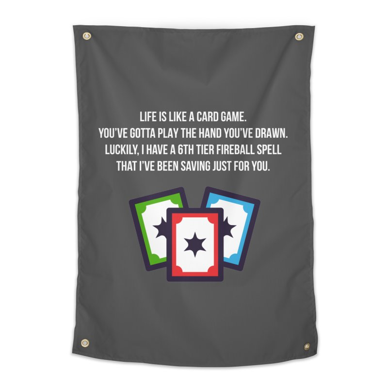 Life Is Like A Card Game... Home Tapestry by My Shirty Life