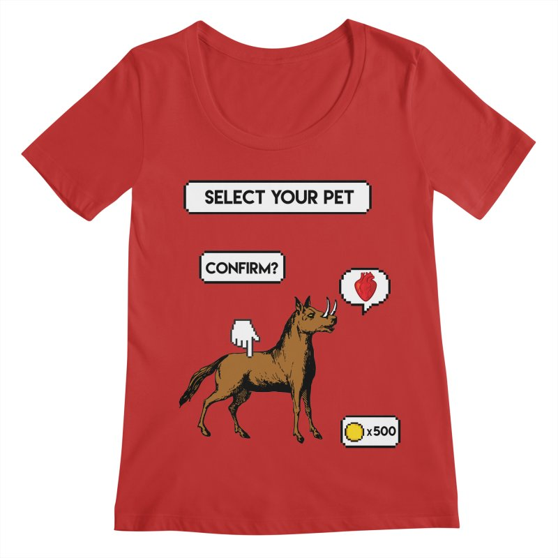 Select Your Pet v1.0 Women's Regular Scoop Neck by My Shirty Life