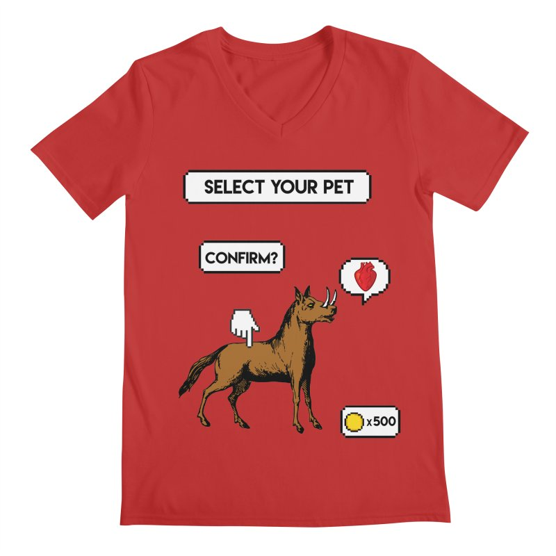 Select Your Pet v1.0 Men's Regular V-Neck by My Shirty Life