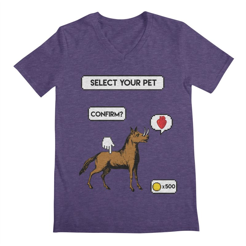 Select Your Pet v1.0 Men's Regular V-Neck by My Shirty Life