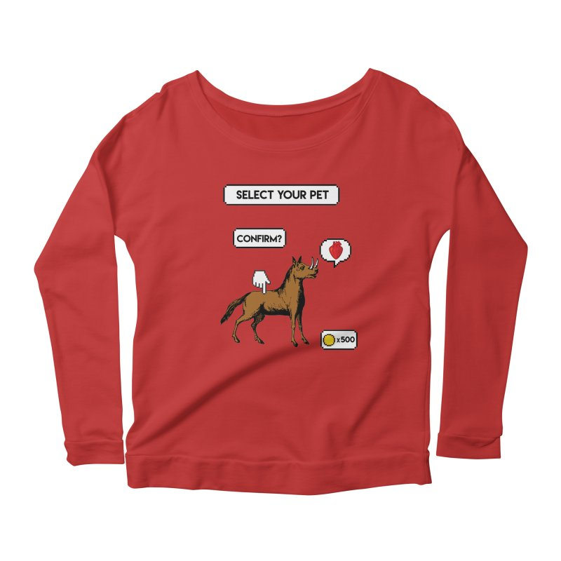 Select Your Pet v1.0 Women's Scoop Neck Longsleeve T-Shirt by My Shirty Life