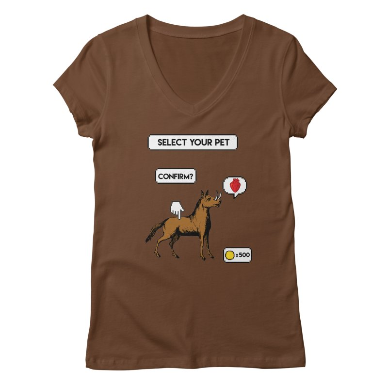 Select Your Pet v1.0 Women's Regular V-Neck by My Shirty Life