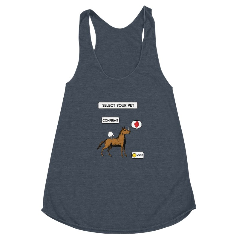 Select Your Pet v1.0 Women's Racerback Triblend Tank by My Shirty Life
