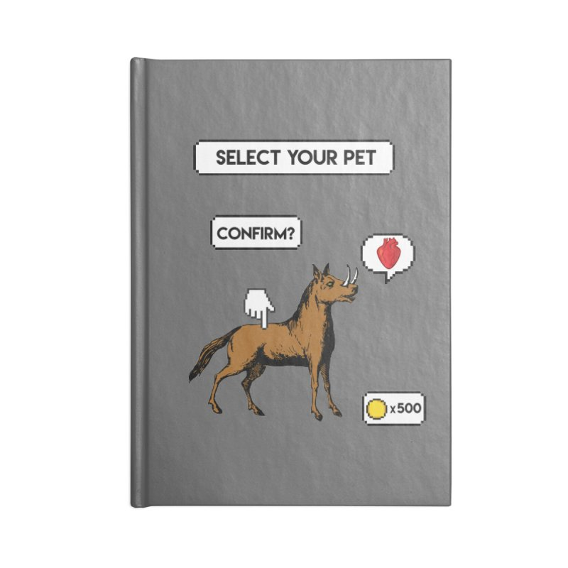 Select Your Pet v1.0 Accessories Blank Journal Notebook by My Shirty Life