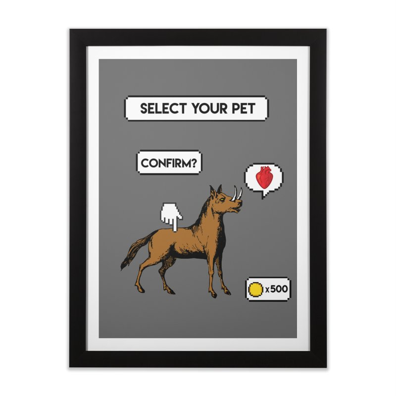 Select Your Pet v1.0 Home Framed Fine Art Print by My Shirty Life