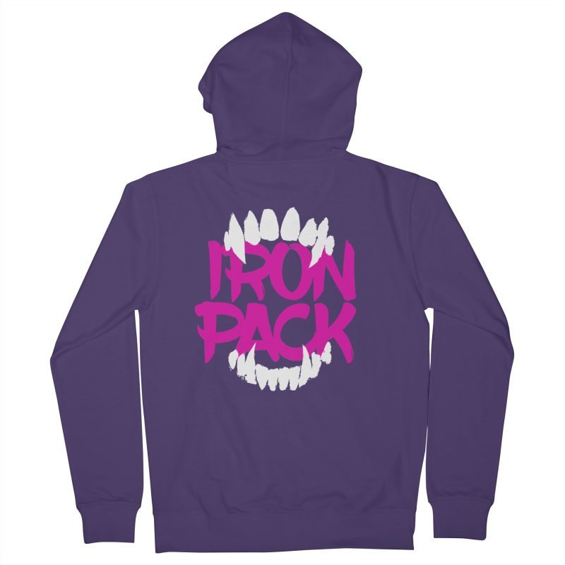 Iron Pack - Purple Women's French Terry Zip-Up Hoody by My Shirty Life