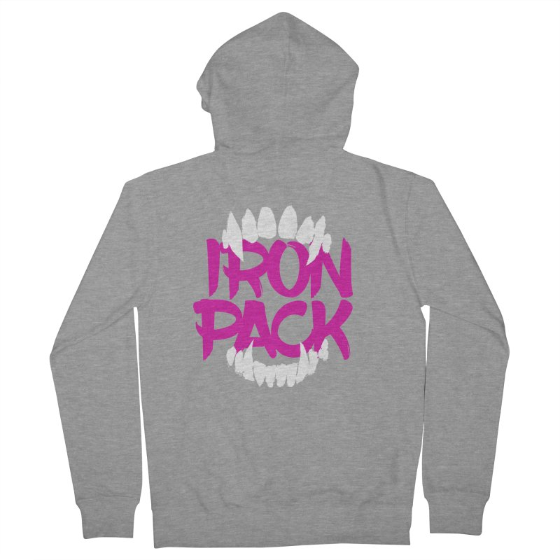 Iron Pack - Purple Men's French Terry Zip-Up Hoody by My Shirty Life