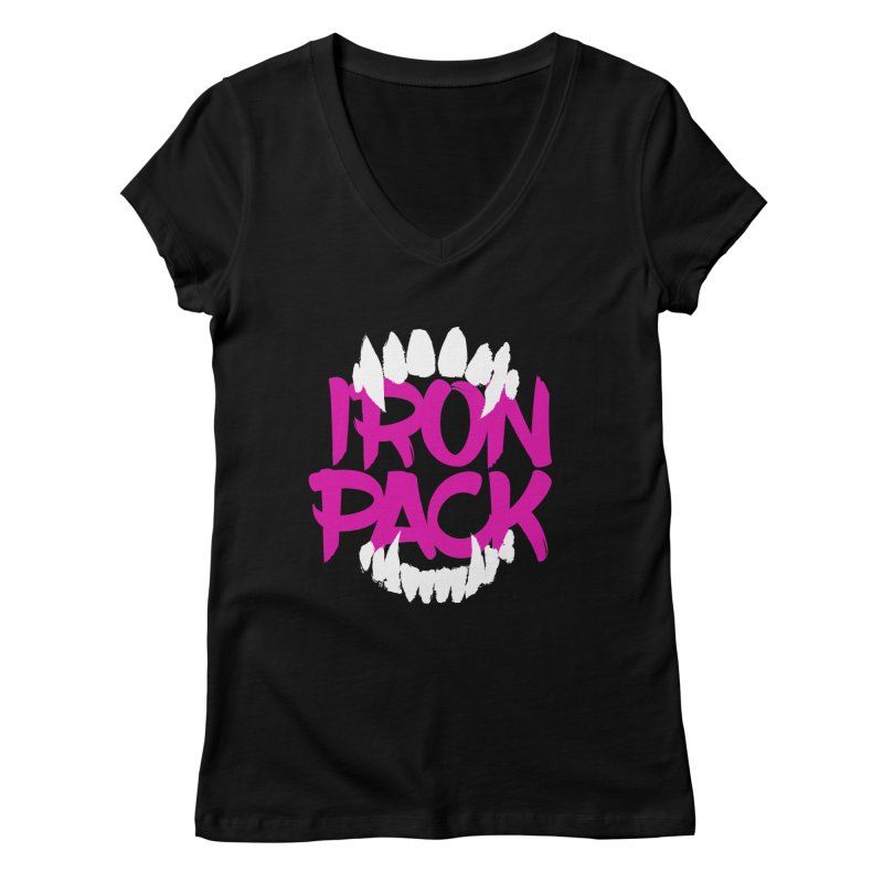 Iron Pack - Purple Women's Regular V-Neck by My Shirty Life