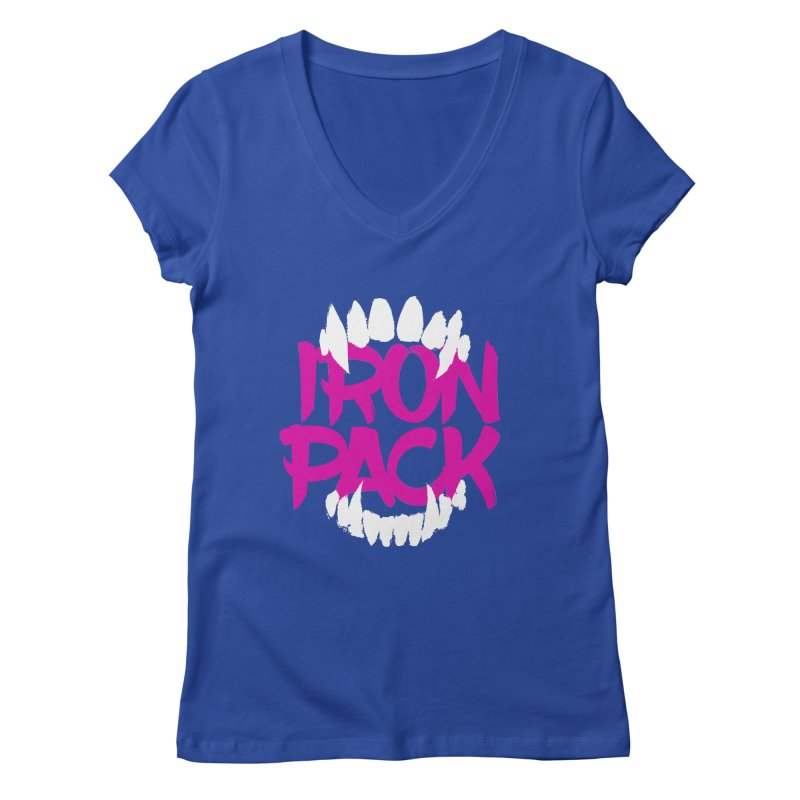 Iron Pack - Purple Women's Regular V-Neck by My Shirty Life