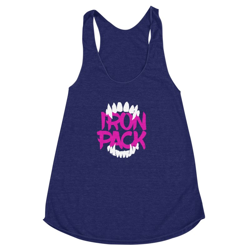 Iron Pack - Purple Women's Racerback Triblend Tank by My Shirty Life
