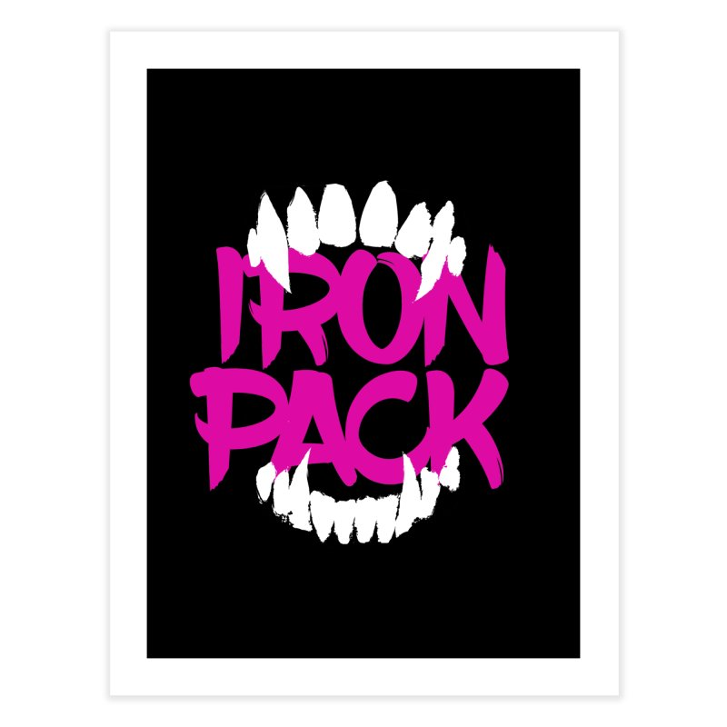 Iron Pack - Purple Home Fine Art Print by My Shirty Life