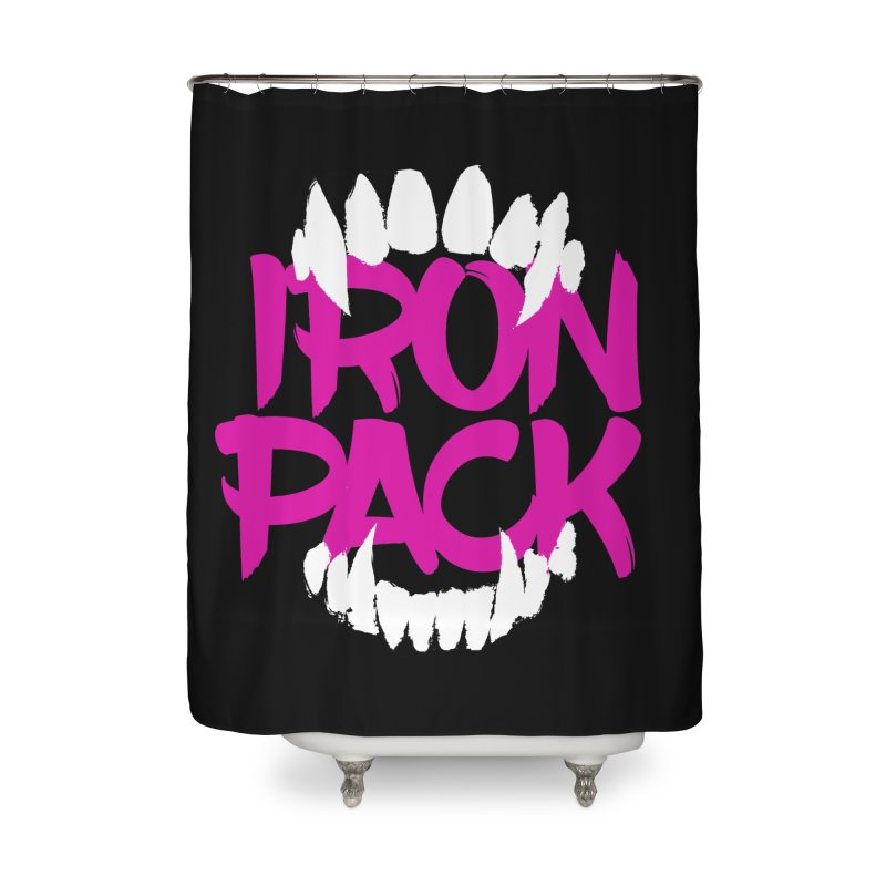 Iron Pack - Purple Home Shower Curtain by My Shirty Life