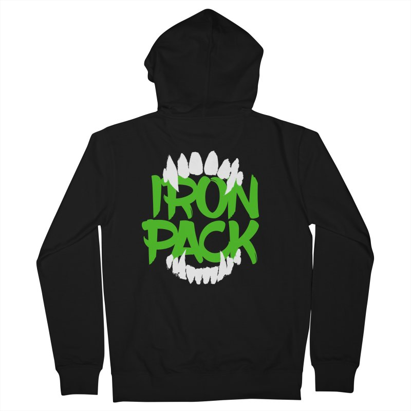 Iron Pack - Green Men's French Terry Zip-Up Hoody by My Shirty Life