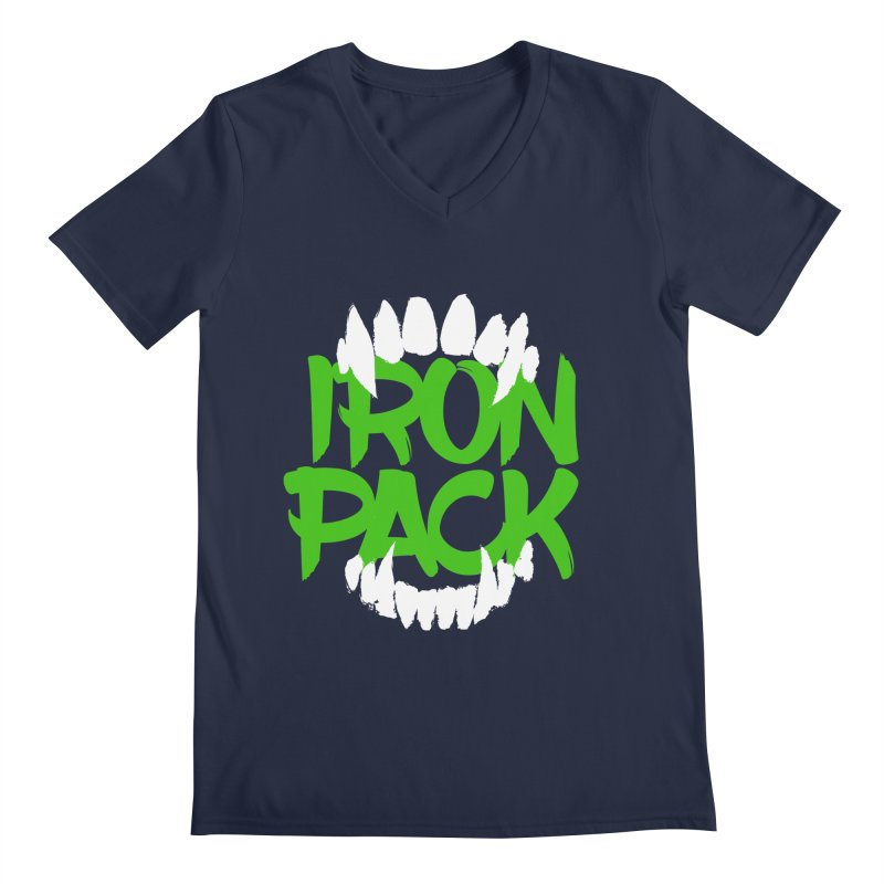 Iron Pack - Green Men's Regular V-Neck by My Shirty Life