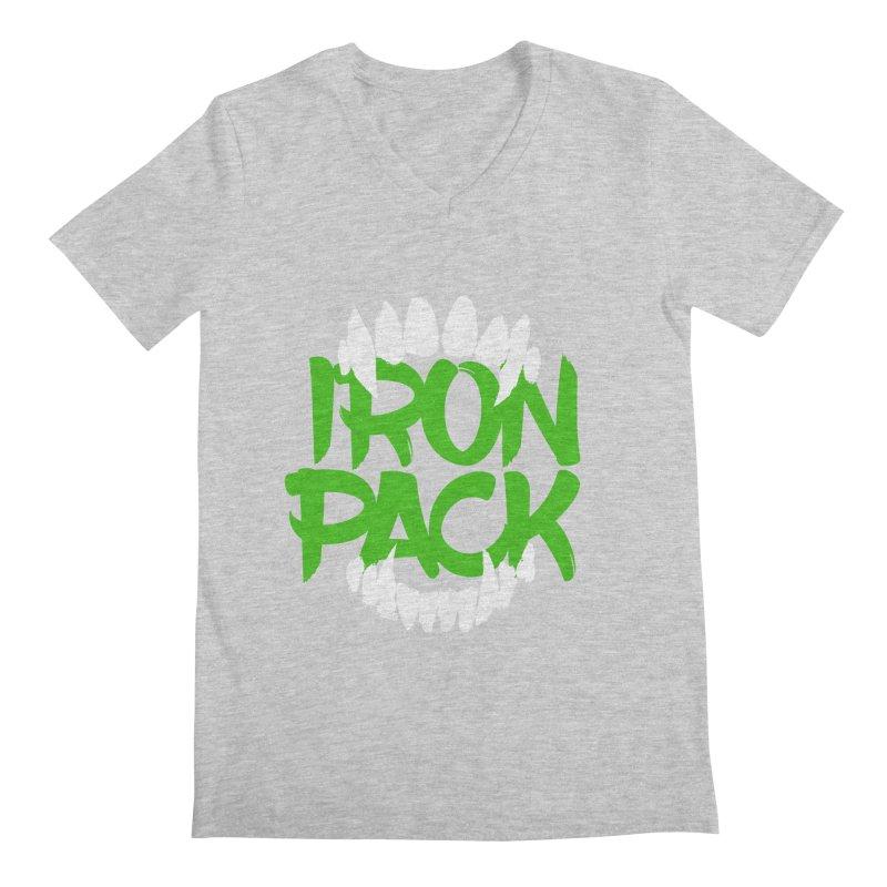 Iron Pack - Green Men's Regular V-Neck by My Shirty Life