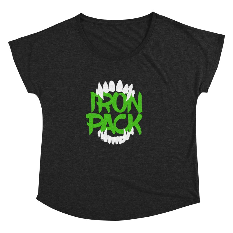 Iron Pack - Green Women's Dolman Scoop Neck by My Shirty Life