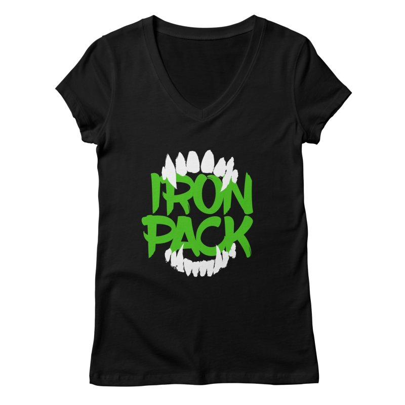 Iron Pack - Green Women's Regular V-Neck by My Shirty Life