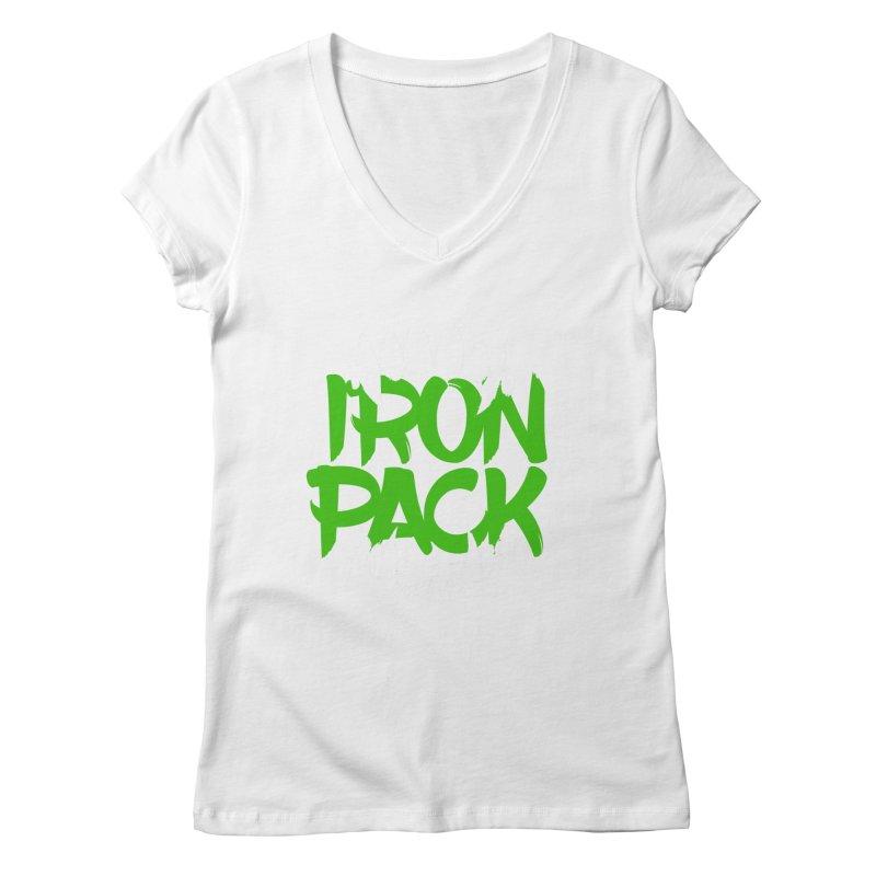 Iron Pack - Green Women's Regular V-Neck by My Shirty Life