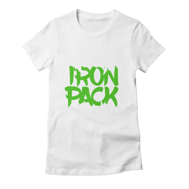 Iron Pack - Green Women's Fitted T-Shirt by My Shirty Life