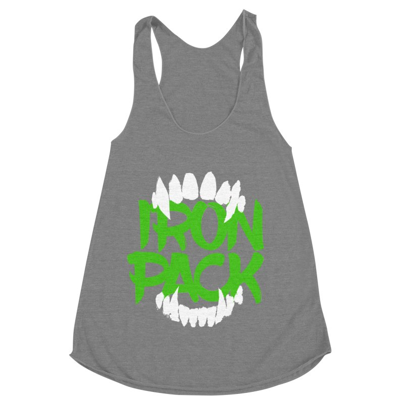 Iron Pack - Green Women's Racerback Triblend Tank by My Shirty Life