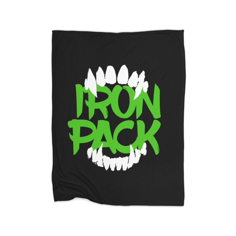 Iron Pack - Green Home Fleece Blanket Blanket by My Shirty Life