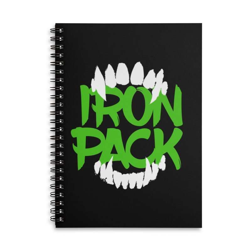 Iron Pack - Green Accessories Lined Spiral Notebook by My Shirty Life